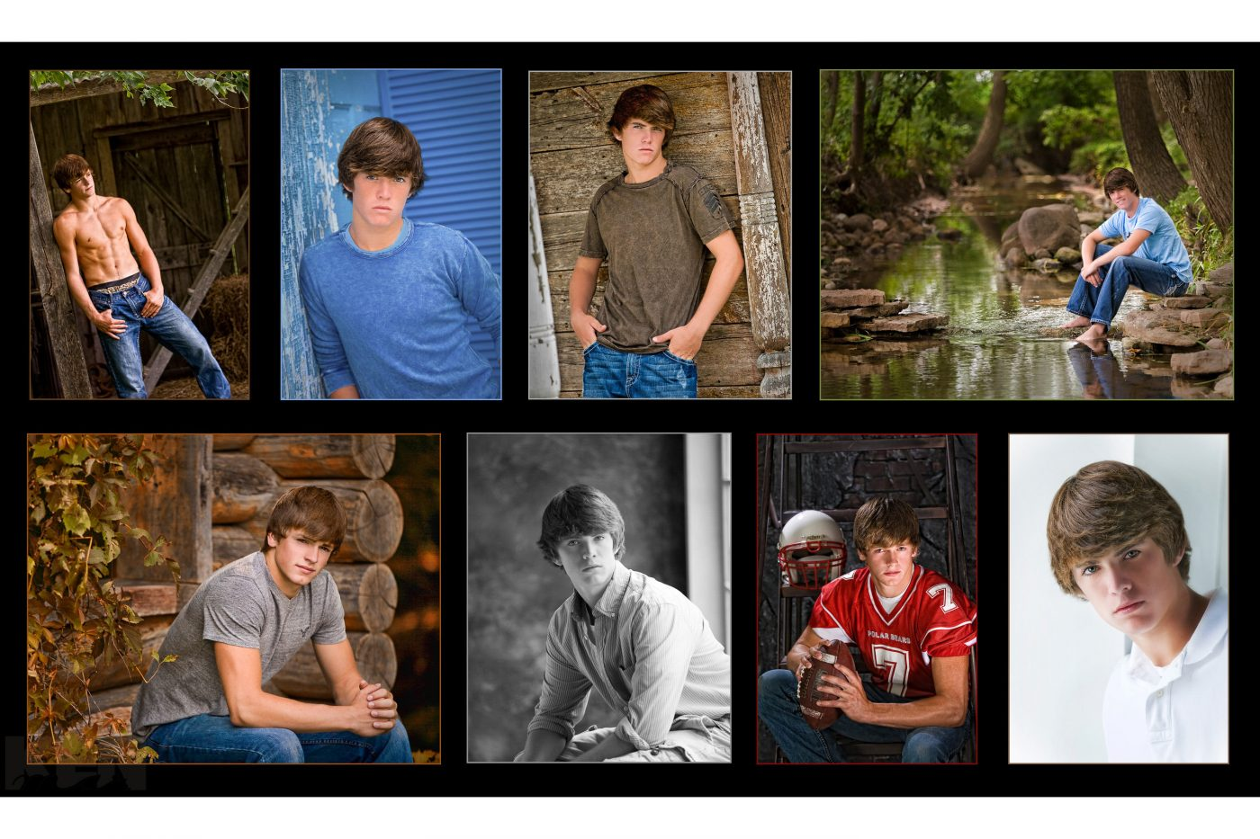 8 images high school senior boy