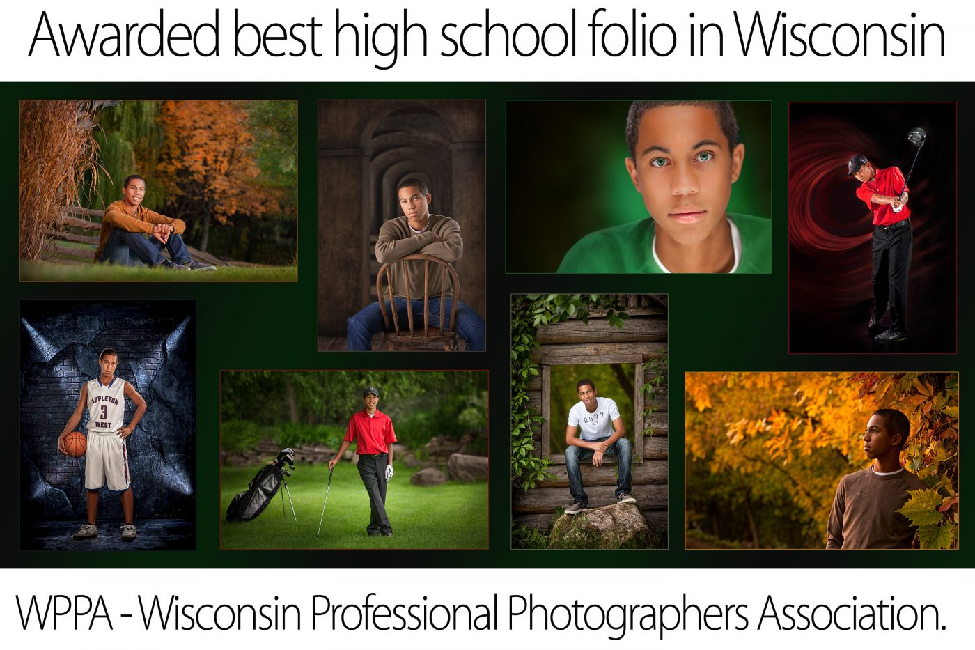 High school senior boy folio of 8 images Senior Graduation Picture